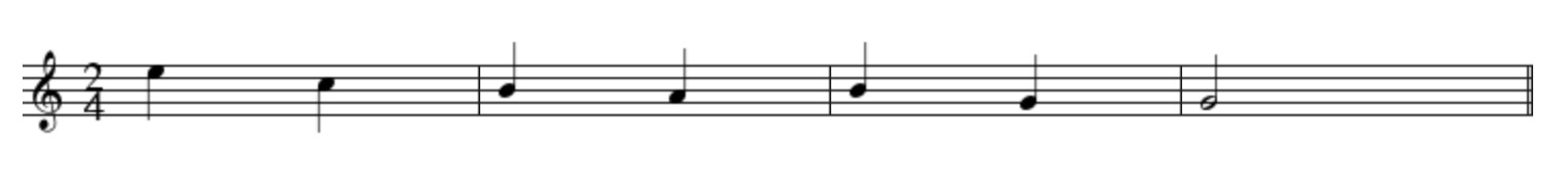 example Sheet music
